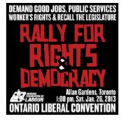 Rally for Rights & Democracy -Allan Gardens, Toronto