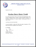 In Memoriam -Brother Barry Henry Trodd