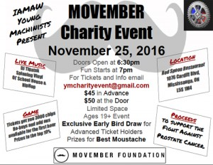 MOVEMBER Charity Event @ Red Spoon Restaurant | Mississauga | Ontario | Canada