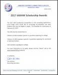 2017 IAMAW Scholarship Competition