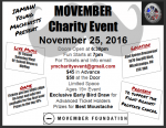 MOVEMBER Charity Event -November 25, 2016