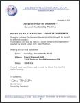 Change of Venue for December's General Membership Meeting