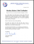 "In Memoriam -Brother Robert ""Bob"" Gallagher"