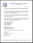 Reminder of Grand Lodge Executive Council Nomination Meeting